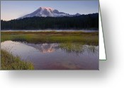Glacier Greeting Cards - Morning Glow Greeting Card by Mike  Dawson