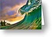Surf Art Greeting Cards - Morning Glow Greeting Card by Paul Topp