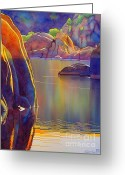 Watson Lake Greeting Cards - Morning Glow Greeting Card by Robert Hooper