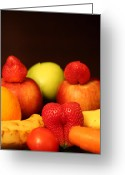 Mango Greeting Cards - Morning Has Broken The Fruit Dreams Greeting Card by Andrea Nicosia