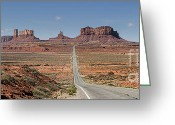 Landscape Photograpy Greeting Cards - Morning in Monument Valley Greeting Card by Sandra Bronstein