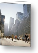 Ambition Greeting Cards - Morning in New York in the USA Greeting Card by Shaun Higson