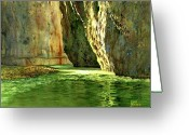 Rio Grande Greeting Cards - Morning in Santa Helena Canyon Greeting Card by Kent Brewer