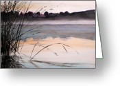 Dawn Drawings Greeting Cards - Morning Light Greeting Card by John  Williams