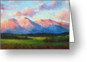 Morning Light Greeting Cards - Morning Light On Mount Shavano Greeting Card by David G Paul