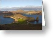 Bartolome Greeting Cards - Morning Light Shines On The Volcanic Greeting Card by Ralph Lee Hopkins