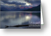Lake Mcdonald Greeting Cards - Morning Magic Greeting Card by Darlene Bushue