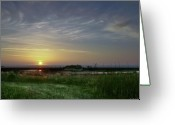 Carolina Greeting Cards - Morning Marsh Greeting Card by Phill  Doherty