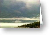 Skagway Greeting Cards - Morning Mist Greeting Card by Mindy Newman