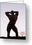 Starrs Greeting Cards - Morning Muscle  Greeting Card by Jake Hartz