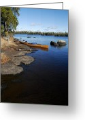 Blue Green Water Greeting Cards - Morning on Hope Lake Greeting Card by Larry Ricker