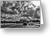 Arlington Memorial Bridge Greeting Cards - Morning on Memorial Bridge Greeting Card by Jim Moore