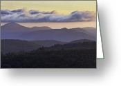 Mountains Photographs Greeting Cards - Morning on the Blue Ridge Parkway Greeting Card by Rob Travis