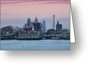 Camden Greeting Cards - Morning on the Delaware River Greeting Card by Bill Cannon