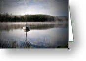 White Sand Greeting Cards - Morning on White Sand Lake Greeting Card by Lauren Radke