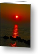 Morn Greeting Cards - Morning Reflection Greeting Card by Bill Cannon