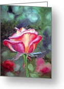 Golden Gate Park Greeting Cards - Morning Rose Greeting Card by Irina Sztukowski
