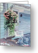 Back Porch Greeting Cards - Morning Shadows Greeting Card by Laura Lee Zanghetti