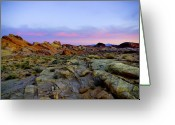 Rock Formations Greeting Cards - Morning Sky Greeting Card by Stephen Campbell