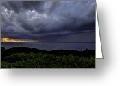 Storm Greeting Cards - Morning Squall Greeting Card by Mike Herdering