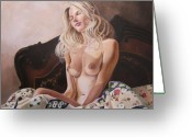 Nude Greeting Cards - Morning Sun Greeting Card by Kenneth Kelsoe