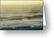 Ocean Front Greeting Cards - Morning Surf Greeting Card by Gerlinde Keating - Keating Associates Inc