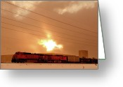 Flurries Greeting Cards - Morning Train 2 Greeting Card by Scott Sawyer