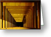 Business Decor Greeting Cards - Morning Under The Bridge Greeting Card by Robert Frederick