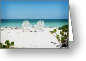White Sand Greeting Cards - Morning View Greeting Card by Chris Andruskiewicz