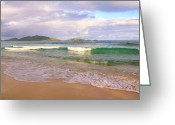 Van Dyke Greeting Cards - Morning View of Jost Van Dyke Greeting Card by Roupen  Baker