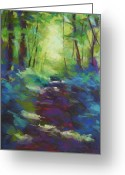 Washington Pastels Greeting Cards - Morning Walk I Greeting Card by Mary McInnis