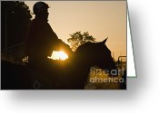 Churchill Downs Greeting Cards - Morning Workout - D007929 Greeting Card by Daniel Dempster