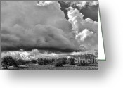 Rabat Greeting Cards - Morocco Clouds Greeting Card by Chuck Kuhn