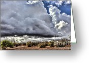 Rabat Greeting Cards - Morocco Clouds II Greeting Card by Chuck Kuhn