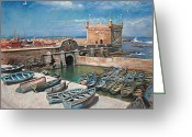 Beach Pastels Greeting Cards - Morocco Greeting Card by Ylli Haruni