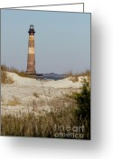 Lighthouse Greeting Cards - Morris Island Lighthouse Folly Beach South Carolina Greeting Card by Dustin K Ryan