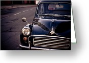 Street Greeting Cards - Morris Minor Greeting Card by Justin Albrecht
