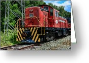 Iron Horse Greeting Cards - Morristown  Erie Engine No.21 Greeting Card by Paul Ward