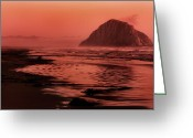 Matthew Trimble Greeting Cards - Morro Sunset Greeting Card by Matt  Trimble