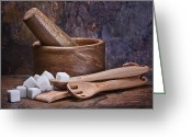 Utensil Greeting Cards - Mortar and Pestle Still Life I Greeting Card by Tom Mc Nemar