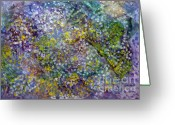 Bletila Striata Greeting Cards - Mosaic Painting Greeting Card by Don  Wright