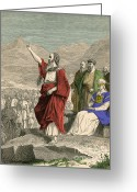 Moshe Greeting Cards - Moses, Christian, Hebrew And Muslim Greeting Card by Photo Researchers