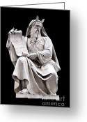 Horns Greeting Cards - Moses Greeting Card by Fabrizio Troiani