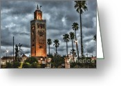 Rabat Greeting Cards - Mosque Marrakesh I Greeting Card by Chuck Kuhn