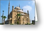 Middle East Greeting Cards - Mosque Of Mohammad Ali Greeting Card by Michelle McMahon