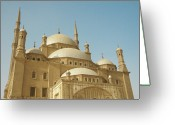 Minaret Greeting Cards - Mosque Of Muhamed-ali Greeting Card by Photography by Huey Yoong (www.hueyyoong.com)