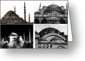 Sultan Greeting Cards - Mosques of Istanbul Greeting Card by John Rizzuto