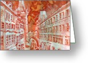 Karluv Most Greeting Cards - Mostecka Greeting Card by Yevgenia Watts