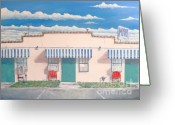 Photorealism Greeting Cards - Motel Six . 1989 Greeting Card by Wingsdomain Art and Photography