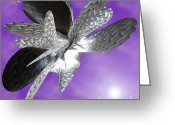 First Star Art By Jammer Greeting Cards - Moth to the Flame Greeting Card by First Star Art